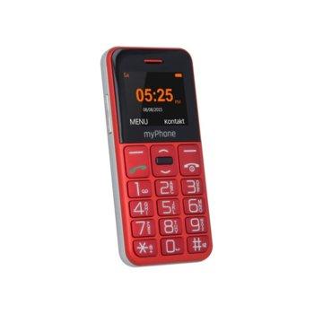 "GSM myPhone Halo Easy(червен), 1.77"" (4.49 cm) цветен дисплей, microSD слот до 32GB, VGA камера, Bluetooth, SOS бутон, радио, 1000 mAh батерия image"