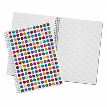 Тетрадка Snopake Polka Dot, формат А5, офсетова хартия, 70 листа, спирала image