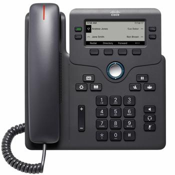 """VoIP телефон Cisco 6841, 3.5"""" (8.89 cm) LCD дисплей, 4 линии, 2x 10/100/1000Base-T, черен image"""
