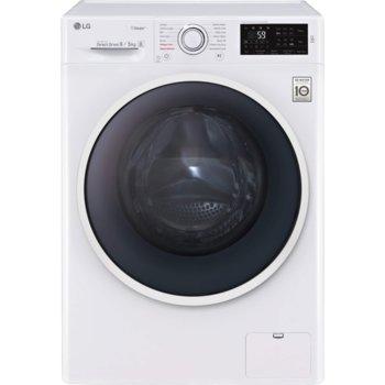 Пералня със сушилня LG F4DN408S0, D, капацитет за пране (кг.) 8, за сушене (кг.) 5, 14 броя програми, свободностояща, 600 мм ширина, AI DD, бял image