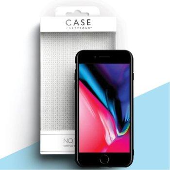 Калъф за Apple iPhone SE (2020) / 8 / 7, страничен протектор с гръб, термополиуретан, FortyFour, No.1, ръбовете на калъфа са над самия дисплей, черен image