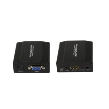 Конвертор Estillo, HDMI(ж) към D-Sub(ж) + SPDF изход image