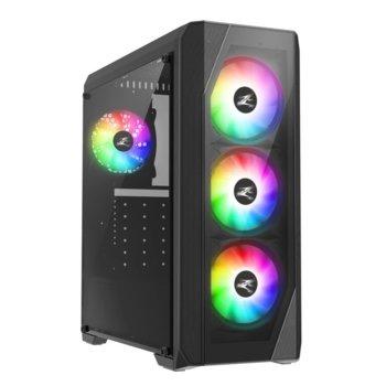 Кутия Zalman N5 TF, ATX/Micro-ATX/Mini-ITX, 1x USB 3.0, 4x RGB вентилатора, черна, без захранване image