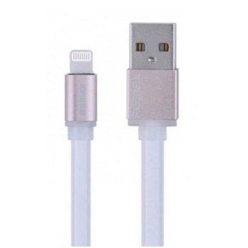 Кабел Remax USB A(м) към Lihtning, Flat, 1м, бял image