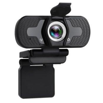 Уеб камера Tellur, микрофон, Full HD(30FPS), USB 2.0, автоматична корекция на картината при слаба светлина, предпазител за поверителност, черна image