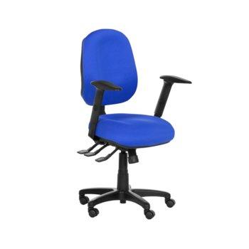 Работен стол Danila, газов амортисьор, коригиране височина, син image