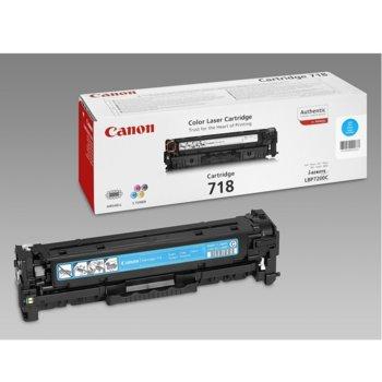 Касета за Canon i-SENSYS LBP7200/MF8330Cdn/MF8350Cdn/MF724Cdw/MF728Cdw/MF729Cx - Cyan - CRG-718C - P№ 2661B002 - Заб.: 2 900k image