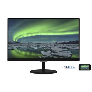 """Монитор Philips 237E7QDSB (237E7QDSB/00), 23"""" (58.42 cm) IPS панел, Full HD, 5ms, 20 000 000:1, 250 cd/m2, HDMI, DVI image"""