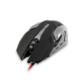 Мишка WHITE SHARK Ceasar GM-1604B, оптична (4800 dpi), гейминг, USB 2.0, черна, 6 бутона, LED подсветка image