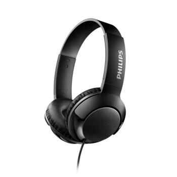 Слушалки Philips SHL3070BK BASS+, 3.5 mm жак, черни image