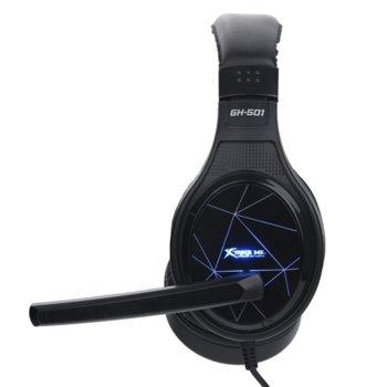 Слушалки Xtrike ME GH-501, микрофон, гейминг, черни image