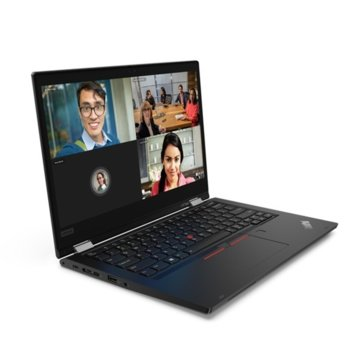 "Лаптоп Lenovo ThinkPad L13 Yoga (20R50007BM/3), четириядрен Comet Lake Intel Core i7-10510U 1.8/4.9 GHz, 13.3"" (33.78 cm) Full HD IPS Multi-touch Anti-Glare Display, (HDMI), 8GB DDR4, 256GB SSD, 2x USB Type-C, Windows 10 Pro image"