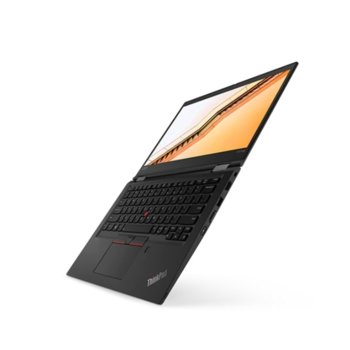 "Лаптоп Lenovo ThinkPad X13 Yoga Gen 1 (20SX0000BM), четириядрен Comet Lake Intel Core i5-10210U 1.6/4.2 GHz, 13.3"" (33.78 cm) Full HD IPS Touchscreen Display, (HDMI), 8GB DDR4, 26GB SSD, 1x Thunderbolt 3, Windows 10 Pro image"