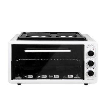 Готварска печка Zephyr ZP 1441 T50HP, 2 нагревателни зони, 50 л. капацитет на фурна, бяла image
