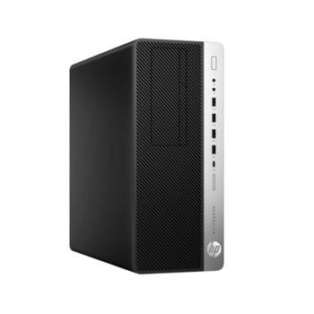 Настолен компютър HP EliteDesk 800 G5 Tower (7PF85EA), осемядрен Coffee Lake Intel Core i7-9700 3.0/4.7 GHz, 16GB DDR4, 512GB SSD, 2x USB 3.1 Gen 2, клавиатура и мишка, Windows 10 Pro image