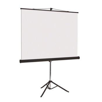 "Екран Bi-Office, на стойка, 200 x 200 cm, 111"" (281.94 cm); 1:1 image"