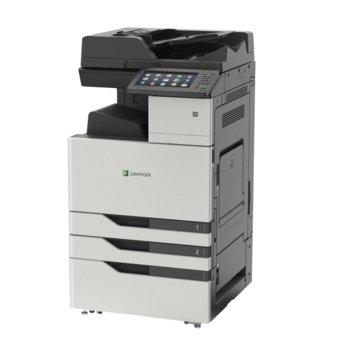 """Мултифункционално лазерно устройство Lexmark CX924dxe, цветен принтер/копир/скенер/факс, 1200 x 1200 dpi, 65 стр/мин, USB, 10"""" (25.4 cm) цветен сензорен дисплей, 2GB RAM, четириядрен 1.2GHz процесор, двустранен печат, ADF, LAN1000, A3 image"""