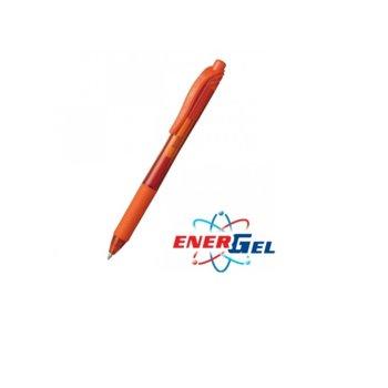 Автоматичен ролер Pentel Energel BL107, оранжев цвят на писане, дебелина на линията 0.7 mm, гел, оранжев, цената е за 1бр. (продава се в опаковка от 12бр.) image