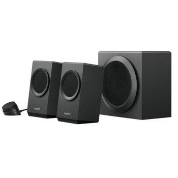 Тонколони Logitech Z337, 2.1, 40W (24W + 2 x 8W), Bluetooth, RCA, AUX, черни image