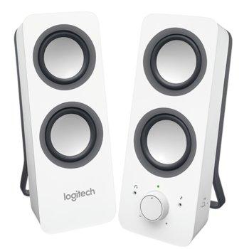 Тонколони Logitech Z200, 2.0, 5W, 3.5mm жак, бели image