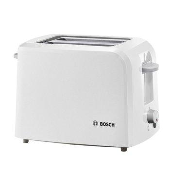 Тостер Bosch TAT 3 A 011, aвтоматично изключване, сензор за равномерно препичане, 980 W, бял image