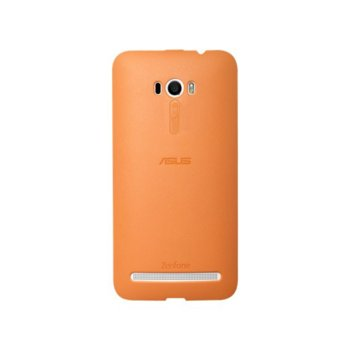 Калъф за Asus ZenFone Selfie, страничен протектор с гръб, поликарбонатов, Asus Bumper ZD551KL, оранжев image