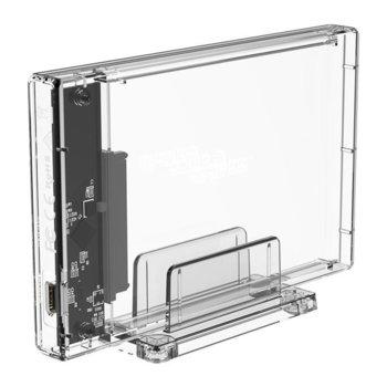 "Кутия 2.5"" (6.35 cm) Orico 2159C3, за HDD/SSD, USB 3.1 Type-C, прозрачна image"