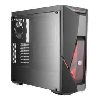 Кутия Cooler Master MasterBox K500L, ATX, Micro-ATX, Mini-ITX, 2x USB 3.0, страничен прозорец от закалено стъкло, подсветка, черна, без захранване image
