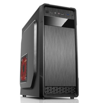 Кутия Estilo 636, ATX/micro ATX, USB 3.0, черна, без захранване image