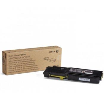 КАСЕТА ЗА XEROX Phaser 6600/WC 6605 - Yellow - P№ 106R02235 - заб.: 6000k image