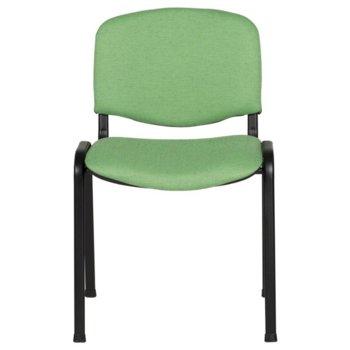 Посетителски стол Carmen 1130 LUX , дамаска, прахово боядисан, зелен image