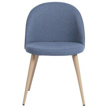 Трапезен стол Carmen 514, дамаска, тъмно син image