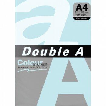 Хартия Double A 15489, A4, 80 g/m2, 100 листа, синя image