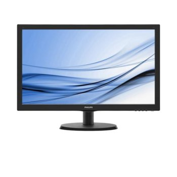 "Монитор Philips 223V5LSB2, 21.5"" (54.61 cm) TFT панел, Full HD, 5ms, 10 000 000:1, 200cd/m2, VGA image"