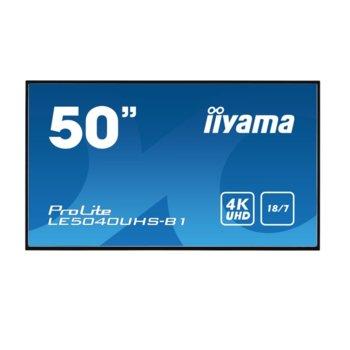"Дисплей Iiyama LE5040UHS-B1, 50"" (127 cm), Ultra HD, HDMI, VGA, DVI-D, USB image"