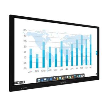 """Интерактивен дисплей IQ Board IQTouch C Pro LE075MD, 75"""" (190.5 см) 4K Ultra HD мулти-тъч дисплей, DisplayPort, HDMI, VGA, USB, LAN image"""