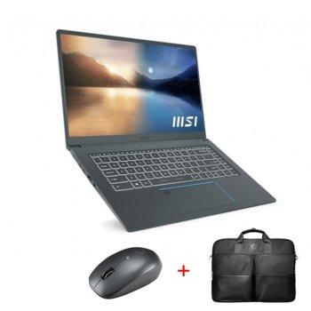 "Лаптоп MSI Prestige 15 A11SCX (9S7-16S611-261) с подарък чанта и мишка MSI, четириядрен Intel Core i7-1185G7 4.80 GHz, 15.6"" (39.62 cm) FHD IPS Anti-Glare Display & GF GTX 1650 4GB, (HDMI), 16GB DDR4, 1TB SSD, Thunderbolt 4, Windows 10 Home image"