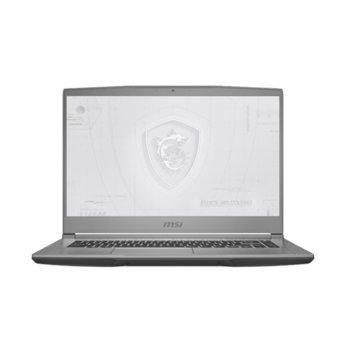 "Лаптоп MSI Workstation WF65 10TI (WF6510TIQUADT10004GFHD60)(сив), шестядрен Comet Lake Intel Core i7-10750H 2.6/ 5.0 GHz, 15.6"" (39.62 cm) Full HD IPS Anti-Glare Display & Quadro T1000 4GB, (HDMI), 16GB DDR4, 256GB SSD & 1TB HDD, Windows 10 Pro image"