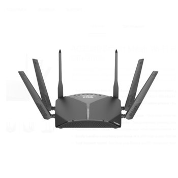 Рутер D-Link EXO AC3000, 2600Mbps, 2.4GHz(400 Mbps) + 5GHz(867 Mbps) + 5GHz(1733 Mbps), Wireless AC, 4x LAN 1000, 1x WAN 1000, 1x USB 3.0, 1x USB 2.0, 6x външни антени image