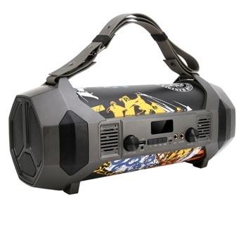 Тонколона Moveteck FT697, 1.0, 24W RMS, Bluetooth 5.0, AUX, USB, SD карта (До 32GB), сива, караоке, LED дисплей, RGB подсветка, 3600mAh батерия image