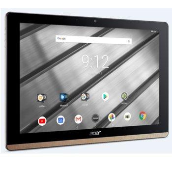 "Таблет Acer Iconia B3-A50FHD-K0AC (NT.LEZEE.002)(златист), 10.1"" (25.65 cm) FHD IPS дисплей, четириядрен MTK MT8167A Cortex A35 1.50GHz, 2GB RAM, 32GB Flash памет (+ microSD слот), 5.0 & 2.0 Mpix камера, Android 8.1 Oreo, 560g image"