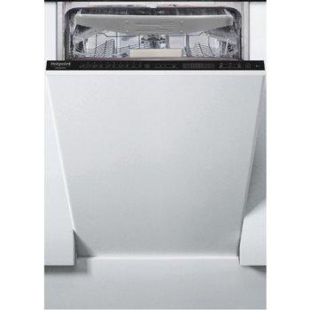 Съдомиялна за вграждане Hotpoint-Ariston HSIP 4O21 WFE, енергиен клас A++, 10 комплекта, 10 програми, 4 температури, таймер за отложен старт, бяла image