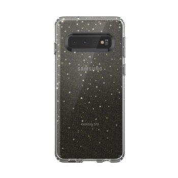 Калъф за Samsung Galaxy S10, поликарбонат, Speck Presidio Clear + Glitter, прозрачен/златен image