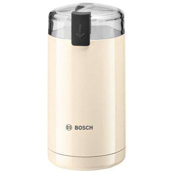 Кафемелачка Bosch TSM6A017C, до 75 г кафе на зърна, защитен ключ, 180W, бежов  image