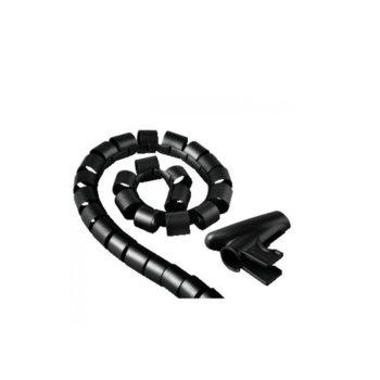 Шлаух спирала Hama 20603, полиетиленова, 30мм диаметър, 1.5м дължина, черна image
