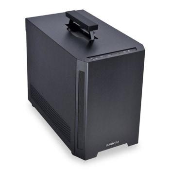 Кутия Lian Li TU150X (GELI-827), Mini-ITX, 2x USB 3.0, 1x USB 3.1 Type-C, с дръжка, черна, без захранване image