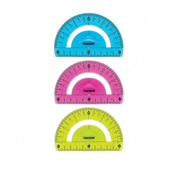 Транспортир Centrum 10cm Flexible, огъваем, цена за 1бр. image