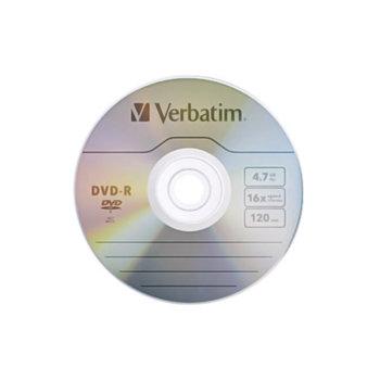 Оптичен носител DVD-R media 4.7GB Verbatim, x16 image