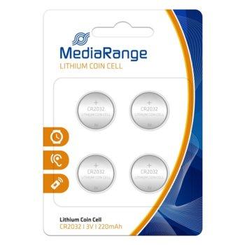 Батерии литиеви MediaRange Coin Cells MRBAT132 CR2032, 3V, 220mAh, 4бр. image