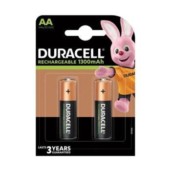 Акумулаторна батерия Duracell NiMH, AA, 1300 mAh, 2 бр. image